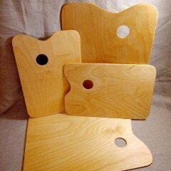 Рисование - Палитра деревянная прямоугольная большая 30х40см, 0
