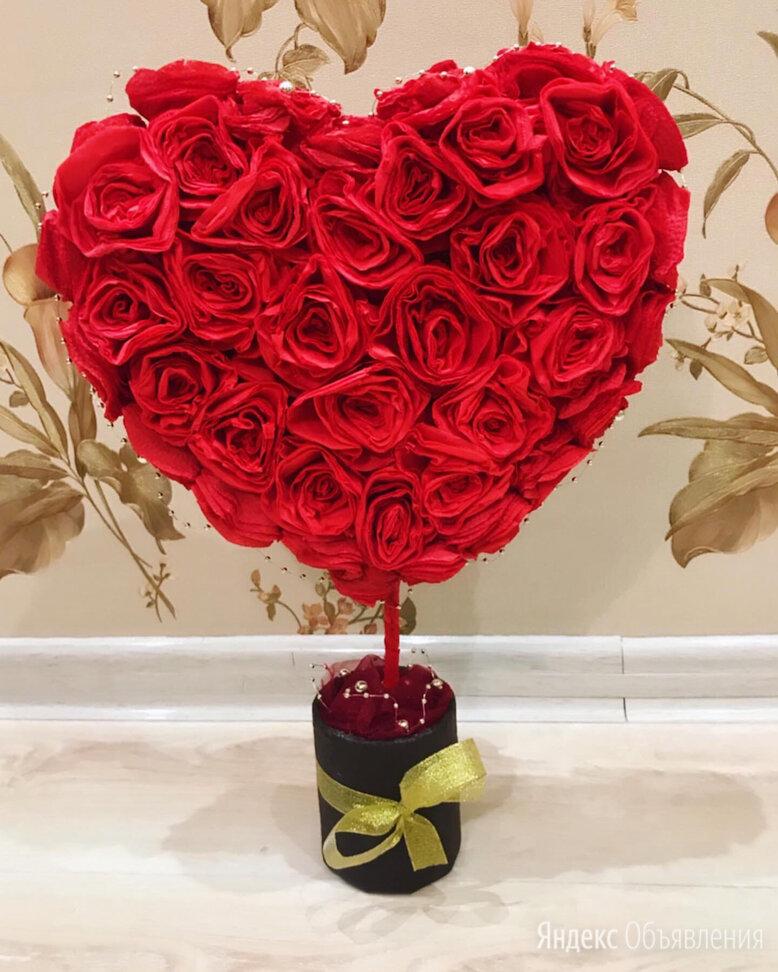 Топиарий для возлюбленных ♥️ по цене 350₽ - Цветы, букеты, композиции, фото 0
