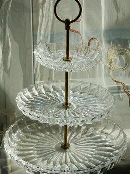 Вазы - Трехъярусная хрустальная ваза, 0