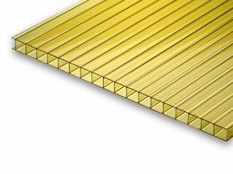 Поликарбонат - Сотовый поликарбонат желтый 6000х2100х10мм, 0