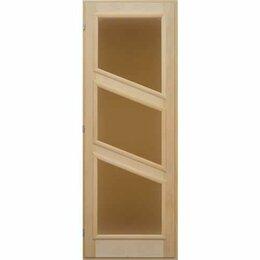 Двери - Посад Дверь вагонка «3 стекла» (левая), 0