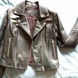 Куртки - Куртка кожаная, новая, р.44, 0