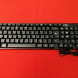 Аксессуары и запчасти для ноутбуков - Клавиатура Perfeo, Domino, USB, чёрная (PF-8801), 0