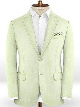 Пиджаки - Бледно зеленый пиджак из шерсти – Scabal, 0