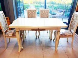 Столы и столики - Стол кухонный белый , раздвижной 1м60см/2м ножки…, 0