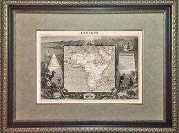 Гравюры, литографии, карты - 1856 год. Старинная гравированная карта Африки,…, 0