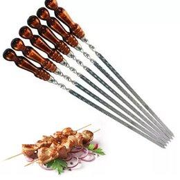 Шампуры - шампура с деревянной ручкой, 0