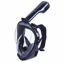 Маски и трубки - Полнолицевая подводная маска для снорклинга Easybreath (S-M) черный, 0