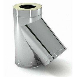 Дымоходы - 135° D115х180 из 0,8мм нерж/оцинк тройник…, 0