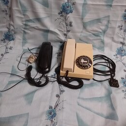 Проводные телефоны - Телефон с дисковым . И с кнопочным номернабором., 0