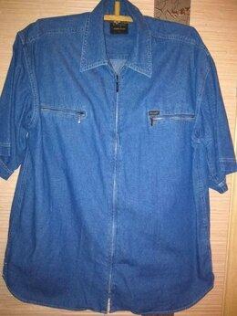 Блузки и кофточки - Джинсовая рубашка-унисекс  на молнии, разм…, 0