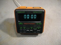 Часы настольные и каминные - Электронные часы «Электроника 12-41А» в…, 0