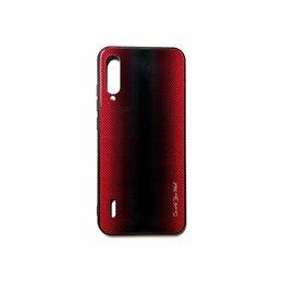 Чехлы - Накладка для Xiaomi Mi A3 карбон красная, 0