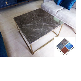 Столы и столики - Стол для интерьера из мрамора Имперадор Дарк, 0