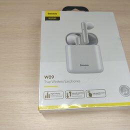 Наушники и Bluetooth-гарнитуры - Беспроводные наушники Baseus W09 TWS новые, 0