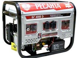 Электрогенераторы - Генератор бензиновый БГ 4000 Э Ресанта, 0