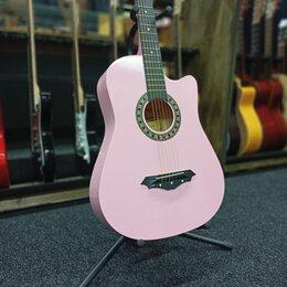 Акустические и классические гитары - Акустическая гитара belucci розовая, 0