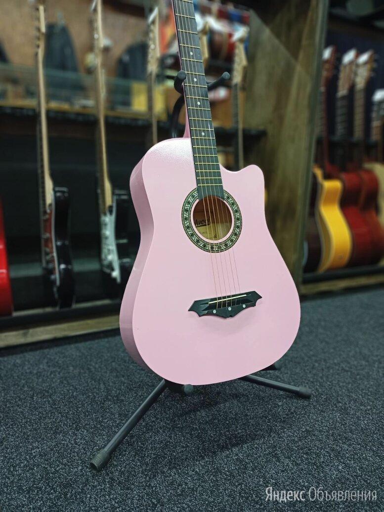 Акустическая гитара belucci розовая по цене 3500₽ - Акустические и классические гитары, фото 0