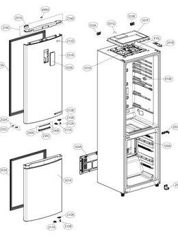 Аксессуары и запчасти - Запчасть для холодильника LG, 0