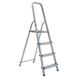 Лестницы и стремянки - Стремянка алюминиевая 4 ступени «Новая Высота», 0
