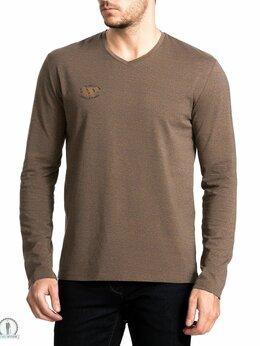 Футболки и майки - футболка с длинным рукавом мужская W3995 CINNAMON, 0