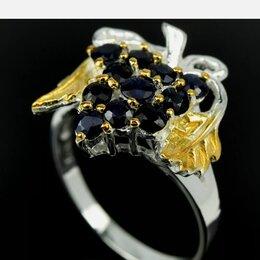 Кольца и перстни - Кольцо серебро сапфиры, 0