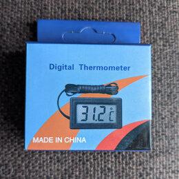 Метеостанции, термометры, барометры - Электронный термометр с выносным датчиком, 0
