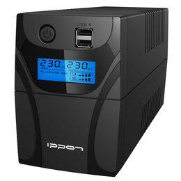 Источники бесперебойного питания, сетевые фильтры - Источник бесперебойного питания IPPON Back Power Pro II Euro 650, 2 розетки, ..., 0