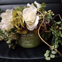 Горшки, подставки для цветов - Декоративный глиняной горшок (кашпо) с…, 0