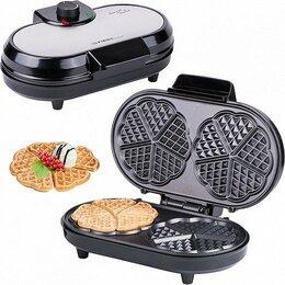 Сэндвичницы и приборы для выпечки - Вафельница FIRST, 1000 Вт, 2х5 сердечек…, 0