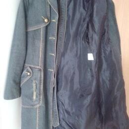 Плащи - Джинсовый плащ-пальто на подкладке, 0