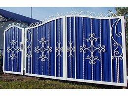 Заборы и ворота - Коваые ворота и калитки с профильным листом, 0