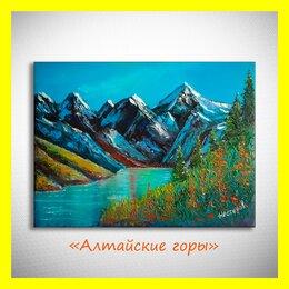 """Картины, постеры, гобелены, панно - 🎨Картина маслом """"Алтайские горы"""". Нестеров., 0"""