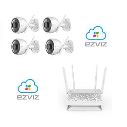 Камеры видеонаблюдения - Комплект на 4камеры ezviz С3N +Vault Plus, 0