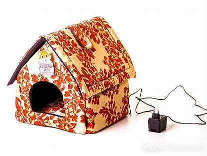 Лежанка с подогревом для кошек и собак Будка оранж по цене 3700₽ - Лежаки, домики, спальные места, фото 0