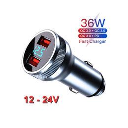Зарядные устройства и адаптеры - Быстрая Зарядка USB от прикуривателя с…, 0