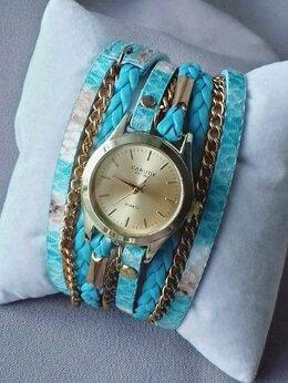 Наручные часы - Часы Carude Chain Gold, бирюзовые W198, 0