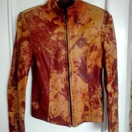 Куртки - Женская кожаная куртка размер 44, 0