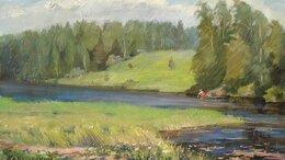 Картины, постеры, гобелены, панно - Река у села Спасское, 0