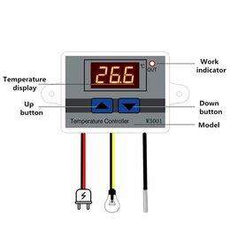 Аксессуары и запчасти - Терморегулятор, Универсальный мини-термостат W3001, 0