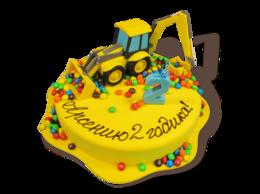 Продукты - Торты на заказ Детский торт с экскаватором, 0
