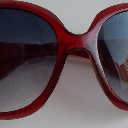 Очки и аксессуары - Очки солнцезащитные темно-красные. Б/у, 0