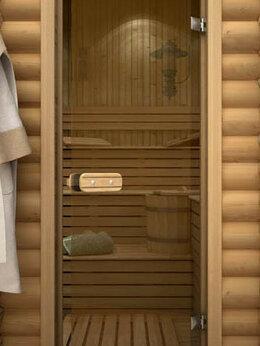 Двери - Дверь для бани со термостеклом бронза, 0