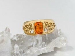 Кольца и перстни - Золотое кольцо с огненным опалом, 0