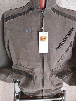 Куртки - Новая мужская ветровка из плотного котона  в…, 0