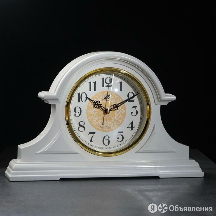 """Часы настольные """"Бадин"""", 1 батарейка АА, плавный ход, d=19 см, белый по цене 3847₽ - Часы настольные и каминные, фото 0"""