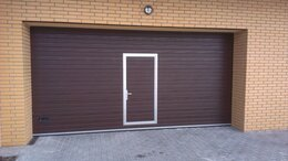 Заборы и ворота - Секционные ворота с калиткой, 0