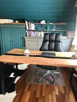 Столы и столики - Стол-река с эпоксидной смолой карагач, 0