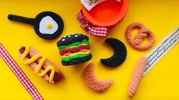 Игрушечная еда и посуда - Еда для кукол фаст-фуд, бургер, гамбургер,…, 0