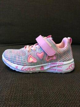 Кроссовки и кеды - Детские кроссовки для девочек, дышащие, на липучке, 0